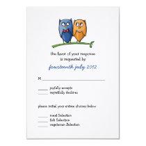 Owl Love Wedding RSVP Card