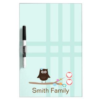 Owl Love {white board} Dry Erase Board