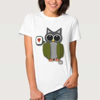 Owl Love Women's Fitted Tee