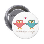 owl love you 2 inch round button