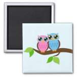 Owl love you 2 inch square magnet