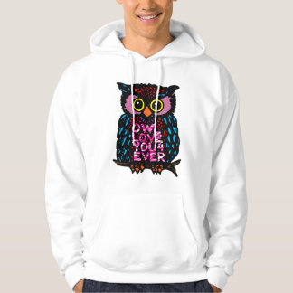 OWL LOVE YOU 4 EVER HOODED PULLOVERS