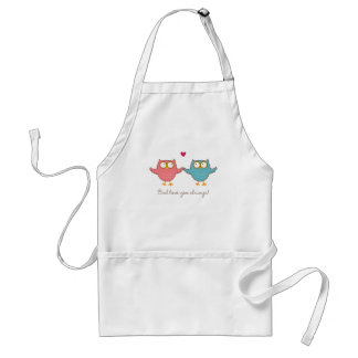 owl love you adult apron