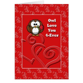 Owl Love You Forever Anniversary Card