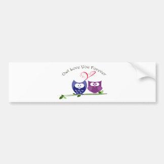Owl Love You Forever Bumper Sticker