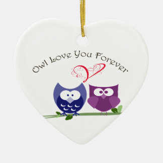 Owl love you forever, cute owl Ornament