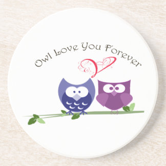 Owl Love you Forever, Cute Owls Coaster