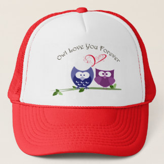 Owl Love You Forever, Cute Owls Trucker Hat