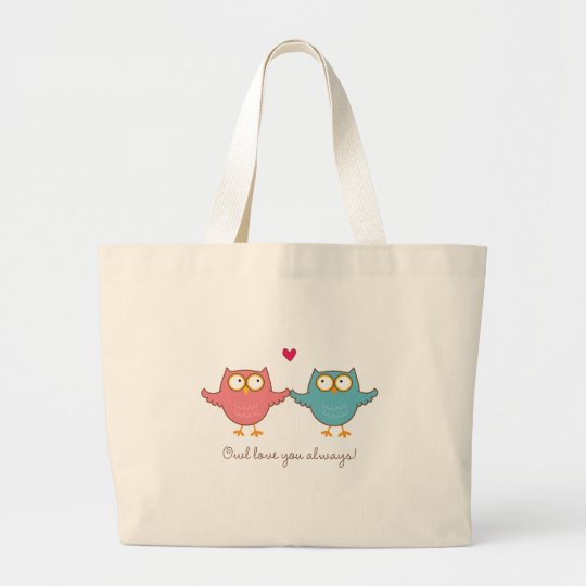 owl love you large tote bag