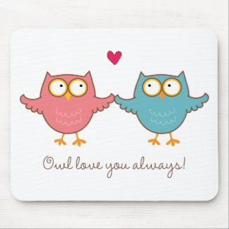 owl love you mouse pads