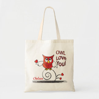 Owl Love You Personalize Tote Bag