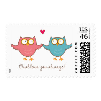 owl love you postage stamp