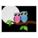 Owl love you poster