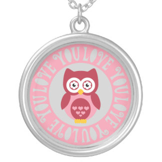 Owl Love You Round Pendant Necklace