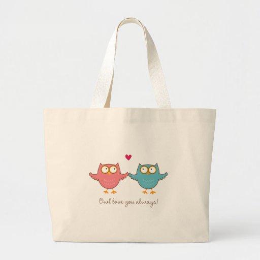 owl love you tote bags