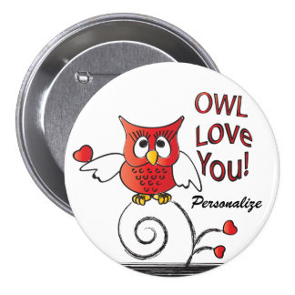 Owl Love You Valentine Pins