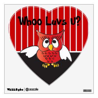 Owl Love You Valentine Wall Sticker