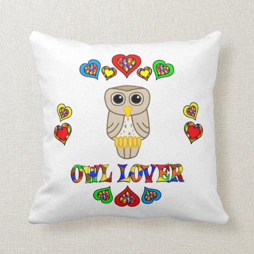Owl Lover Throw Pillow