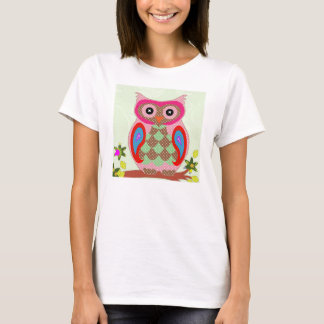 Owl Lovers Colorful Cartoon Owl T-Shirt
