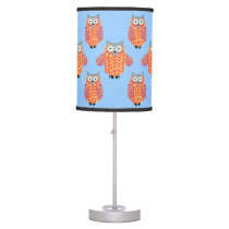 Owl Lover's Cute Colorful Owls Cartoon Desk Lamp