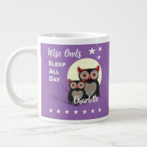 Owl Lovers Super Cute Funny Personalized Large Coffee Mug