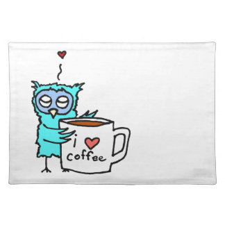 Owl Loves Coffee Placemat