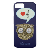 owl loves music iPhone 8/7 case