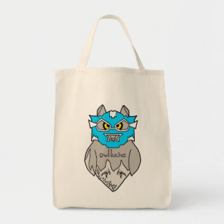 Owl Lucha Grocery Tote Grocery Tote Bag