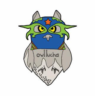 Owl Lucha Star Photosculpture Statuette