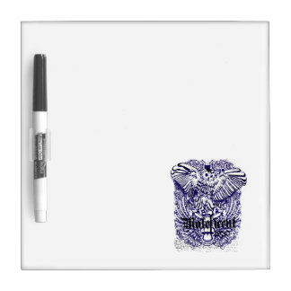 owl mafeficent affected design Dry-Erase whiteboard