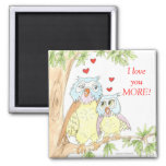 OWL magnet LOVE gifts I love you more