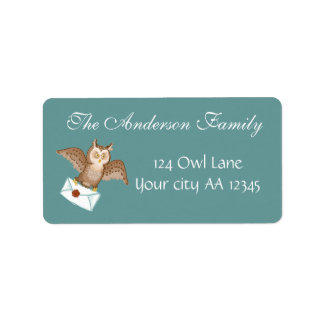 Owl mail address label