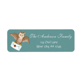 Owl mail adress label