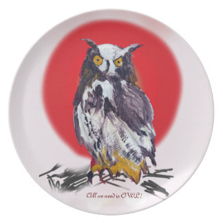 Owl Mania Collection Melamine Plate