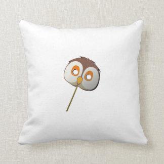 Owl Mask Throw Pillow