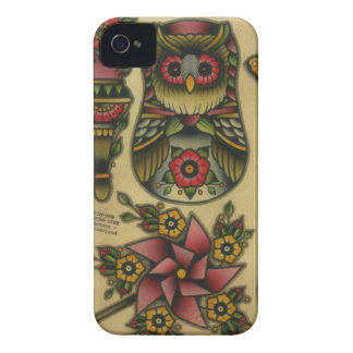 owl matroyshka pinwheel iPhone 4 Case-Mate case