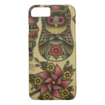 owl matroyshka pinwheel iPhone 7 case