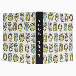 owl meeting vinyl binder