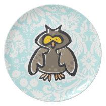 Owl Melamine Plate