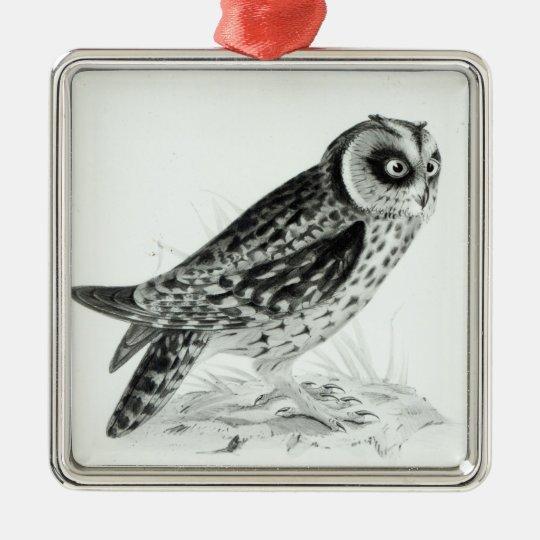 Owl Metal Ornament
