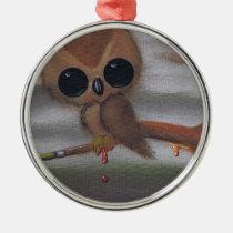 owl, sugar, fueled, sugarfueled, michael, banks, coallus, rainbow, cute, sweet, Ornament with custom graphic design
