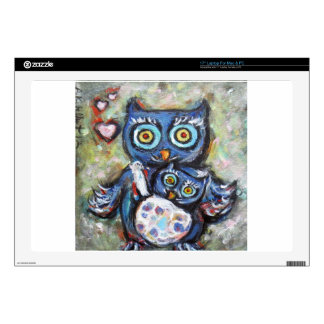 """Owl Mom & Baby Love 17"""" Laptop Decal"""