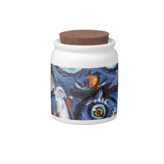 Owl Mom & Baby Love Candy Jar