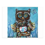 Owl Momma with baby Post Card