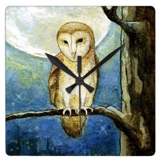 """""""Owl Moon"""" Wall Clock"""