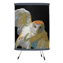Owl Mosaic w/ Rice Paper Shade, Tripod Lamp