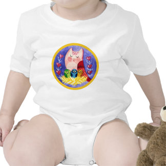 Owl mother of triplets tshirt
