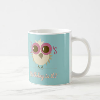 Owl Mug Birthday Party Gifts Pink Teal