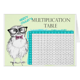 Owl Multiplication table.png Greeting Card