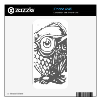 Owl Music Decal For iPhone 4